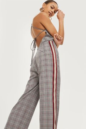 TOPSHOP オールインワン・サロペット 《スポーティー&チェック♪》☆TOPSHOP☆Checked Jumpsuit