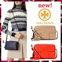 セール 新作 Tory Burch BLOCK-T PEBBLED DOUBLE-ZIP CROSS-BODY
