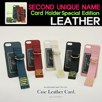 [SECOND UNIQUE NAME]LEATHER EDITION/iPone全機種 /CARD HOLDER