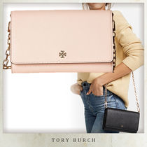 【Tory Burch】 Robinson ロゴ チェーン ウォレット ★ピンク
