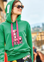18SS DG1429 COTTON JERSEY HOODIE WITH APPLIQUE