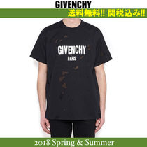 18SS関税込★GIVENCHY(ジバンシイ) Destroyed Tシャツ BLACK