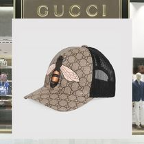 18SS GUCCI ☆ GGロゴ ハチモチーフ プリント キャップ