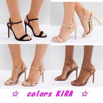ASOS HANDS DOWN Wide Fit Barely There Heeled Sandals♪4色