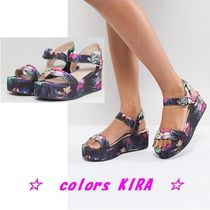 ASOS TOUCAN Floral Wedge Sandals♪