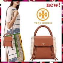 セール新作 Tory Burch Half-Moon Straw Cross-Body カゴバッグ