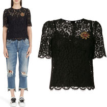18SS DG1435 CORD LACE TOP WITH HEART APPLIQUE
