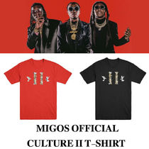 激レア 新作 MIGOS CULTURE II RED T-SHIRT