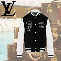 数量限定 VUITTON ヴィトンFRAGMENT EMBROIDERED VARSITY JACKET