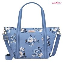 Cath Kidston☆SMALL TRAVEL HANDBAG ISLAND BUNCH MID BLUE
