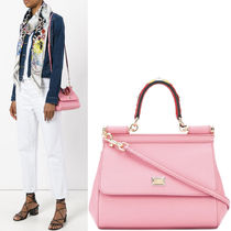 18SS DG1439 SMALL SICILY BAG WITH STUDDED HANDLE