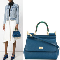 18SS DG1440 SMALL SICILY BAG WITH STUDDED HANDLE