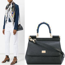 18SS DG1441 SMALL SICILY BAG WITH STUDDED HANDLE