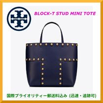 【SALE】Tory Burch レザーBLOCK-T STUD MINI TOTE