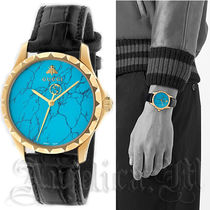 ★送料込★GUCCI Turquoise Blue Men's Dial Watch YA126557