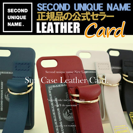 SECOND UNIQUE NAME iPhone・スマホケース 【NEW】「SECOND UNIQUE NAME」LEATHER CARD EDITION 正規品