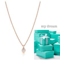 【Tiffany】 Pear-Shaped♡By The Yard in Rose Gold .07ct