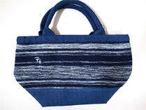 Ron Herman Indigo Border Tote Bag ロンハーマン トート
