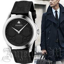 関税送料込★GUUCI G-Timeless Black Dial Mens Watch YA1264031