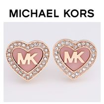 ☆Michael Kors☆Rose Gold Plated Crystal Heart Earring♪