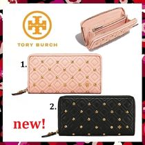 セール 新作 Tory Burch Fleming Stud Zip Continental Wallet