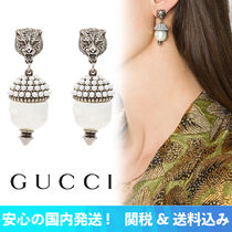 【安心の関税込】GUCCI・ FELINE DETAIL PEARLS EARRINGS