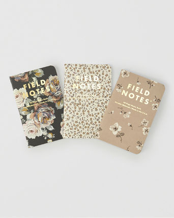 Abercrombie & Fitch ノート ☆日本未入荷☆ 最新作 アバクロ/ FIELD NOTES 3-PACK 花柄