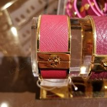 セール!Tory Burch ★ SKINNY LEATHER INLAY CUFF