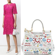 18SS DG1445 PRINTED SMALL SICILY BAG