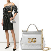 18SS DG1449 EMBELLISHED MINI SICILY BAG