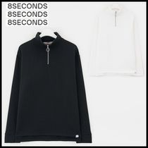 8 SECONDS(エイトセカンズ) スウェット・トレーナー [8SECONDS] O-ring Half Zip-up Slit Napped Sweatshirt