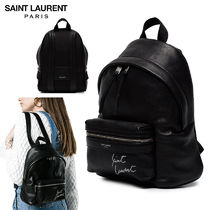 【正規品保証】SAINT LAURENT★18春夏★LEATHER BACKPACK_BLACK