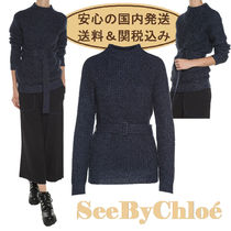 【送関込】See By Chloe★Belted Wool & Mohair Blend Sweater