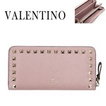 VALENTINO/正規品/EMS送料込み Rock Stud Zipper Long Wallet