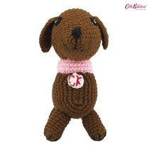 Cath Kidston☆CROCHET SAUSAGE DOG SOLID BROWN