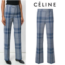 【18SS】大注目!!★CELINE★tailored check trousers