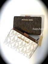 【MICHAEL KORS】BIFOLD ZIP WALLET☆折り財布MKモノグラム