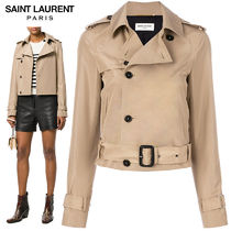 【正規品保証】SAINT LAURENT★18春夏★TRENCH JACKET_BEIGE
