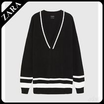 ☆ Men's ZARA☆ OVERSIZED V-NECK SWEATER