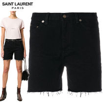 【正規品保証】SAINT LAURENT★18春夏★DENIM SHORTS_BLACK
