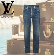 数量限定 VUITTON ヴィトン INDIGO WASHED REGULAR JEANS
