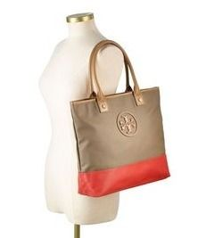 【TORY BURCH】即発送可☆Dipped Canvas Jaden Toteバッグ