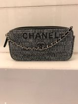 CHANEL2018年新作Deauville キャンバス クラッチ with チェーン