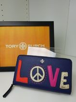 【即発◆3-5日着】TORY BURCH◆PEACE ZIP CONTINENTAL◆長財布◆