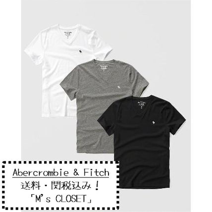 Abercrombie & Fitch Tシャツ・カットソー Abercrombie&Fitch(アバクロ)アイコンVネックTシャツ3枚セット