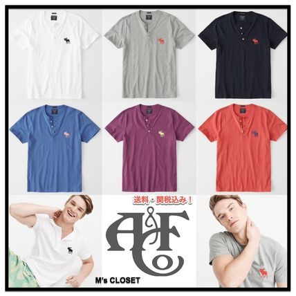Abercrombie & Fitch Tシャツ・カットソー Abercrombie&Fitch(アバクロ)アイコンヘンリーネック半袖Tシャツ