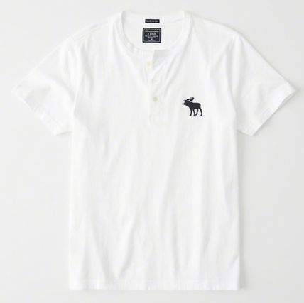 Abercrombie & Fitch Tシャツ・カットソー Abercrombie&Fitch(アバクロ)アイコンヘンリーネック半袖Tシャツ(2)