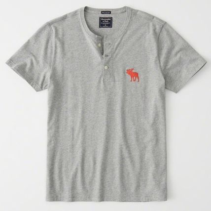 Abercrombie & Fitch Tシャツ・カットソー Abercrombie&Fitch(アバクロ)アイコンヘンリーネック半袖Tシャツ(4)