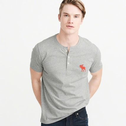 Abercrombie & Fitch Tシャツ・カットソー Abercrombie&Fitch(アバクロ)アイコンヘンリーネック半袖Tシャツ(5)