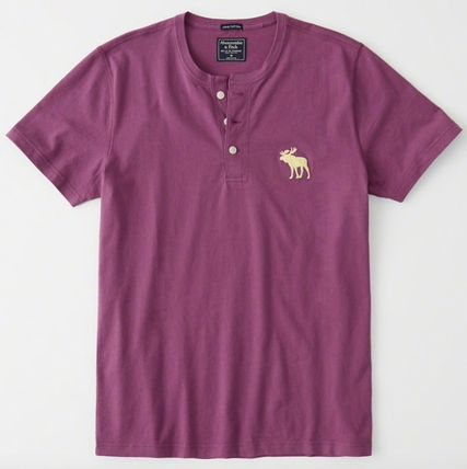 Abercrombie & Fitch Tシャツ・カットソー Abercrombie&Fitch(アバクロ)アイコンヘンリーネック半袖Tシャツ(10)